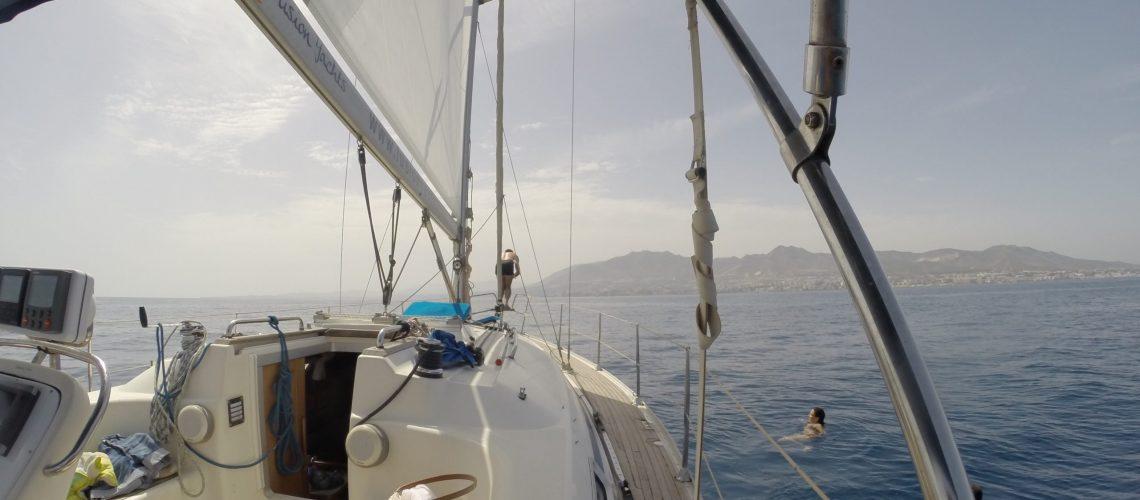 Navegando en el bavaria 34 del club de navegación Fusion yachts